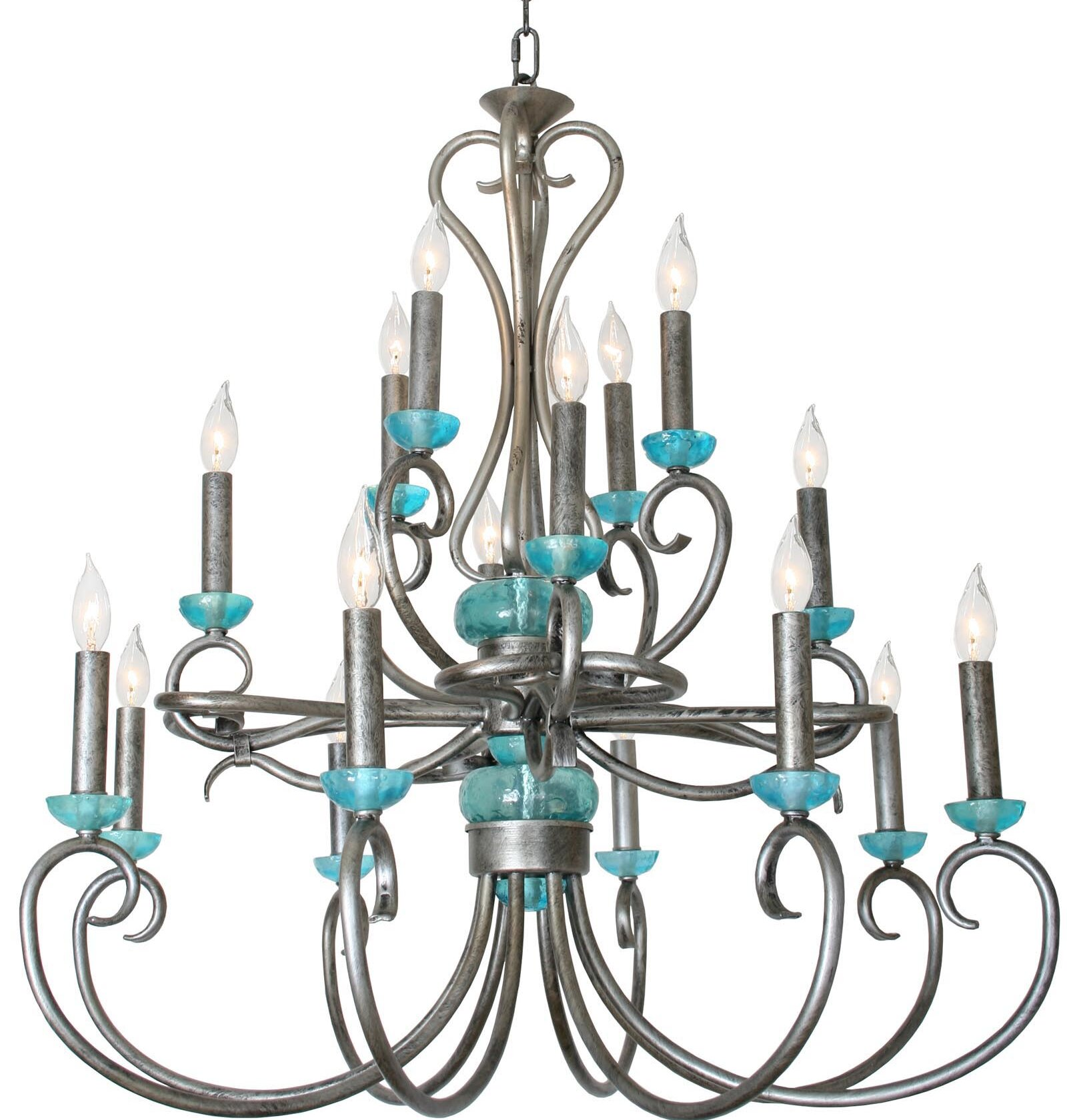 Bloomsbury Market Bronson Crown 16 Light Candle Style Chandelier