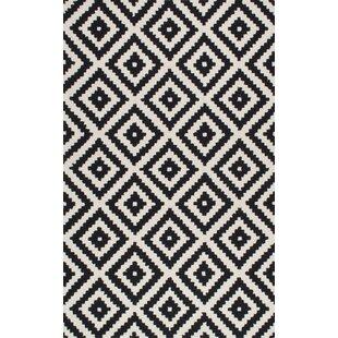 Obadiah Hand Tufted Wool Black Area Rug