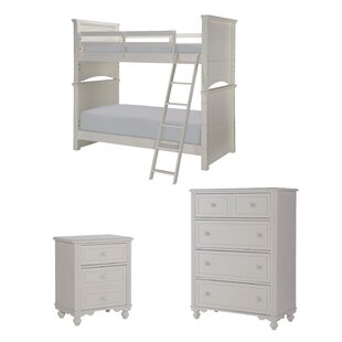 Summerset Twin Over Full Trundle Bunk Bed Customizable Bedroom Set