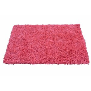 Chenille Salmon Pink Area Rug
