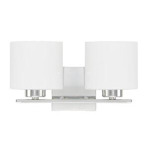 Carswell 2-Light Vanity Light  sc 1 st  Wayfair & 2 Light Bathroom Vanity Lighting Youu0027ll Love | Wayfair azcodes.com