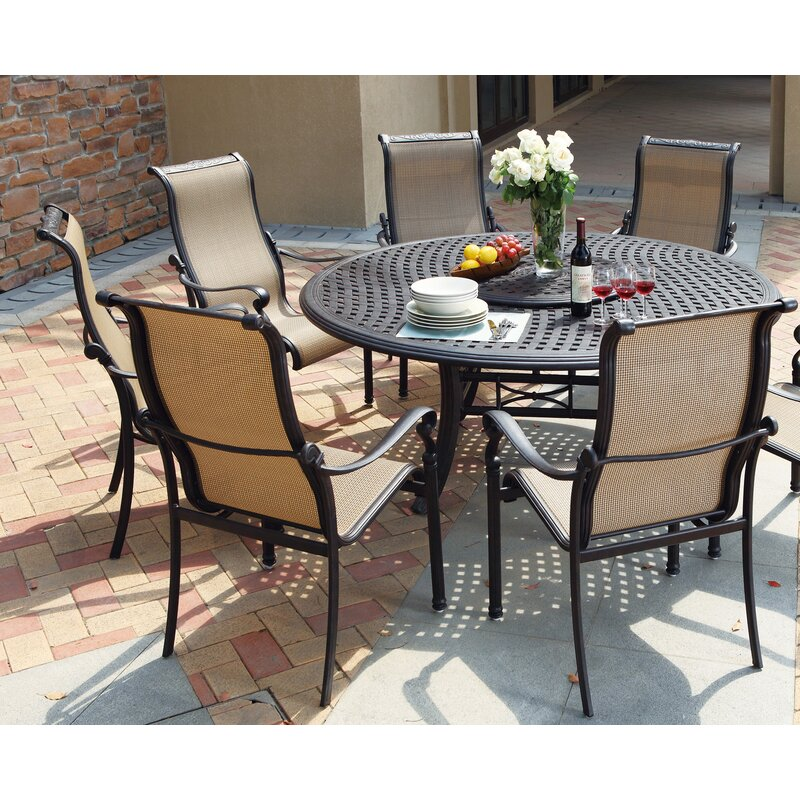 Darby Home Co Bagwell 7 Piece Round Dining Set Wayfair