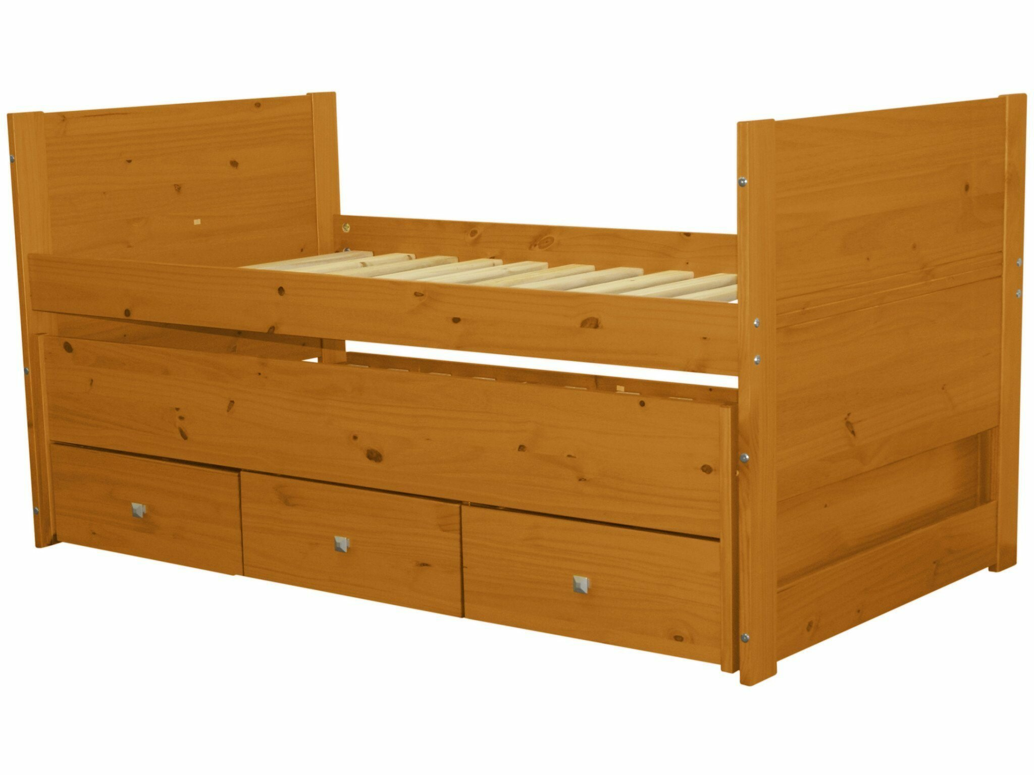 Bedz King Twin Captain Bed with Trundle and Storage & Reviews