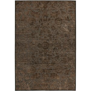 Martha Stewart Heritage Bloom Brown Area Rug