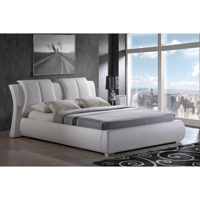 Global Furniture USA Upholstered Platform Bed & Reviews