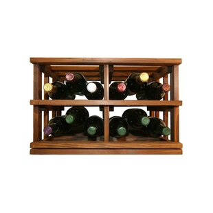 Allaire Rustic 12 Bottle Tabletop Wine Rack