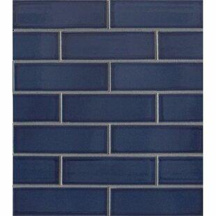 Reverie 2 X 6 Porcelain Subway Tile In Blue