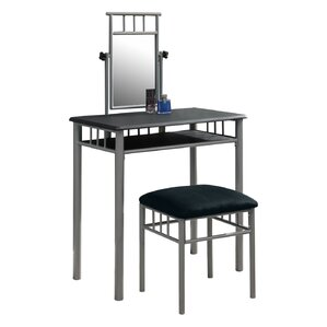 Faye Vanity Set with MirrorMetal Bedroom   Makeup Vanities   Joss   Main. White Metal Vanity Set. Home Design Ideas