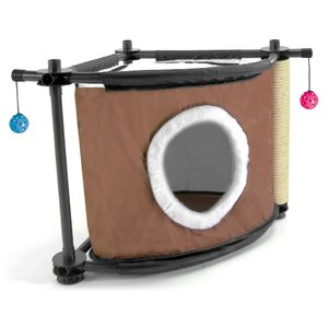 17″ Kitty City Sleepy Corner Cat Condo