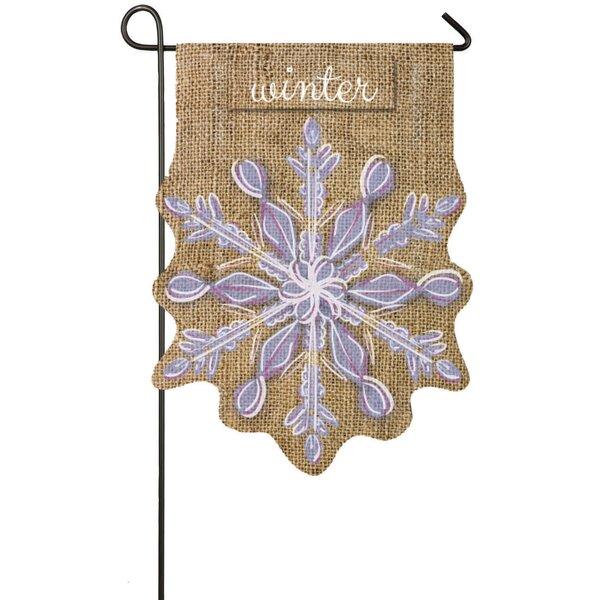 Evergreen Flag & Garden Snowflake Garden Flag & Reviews ...