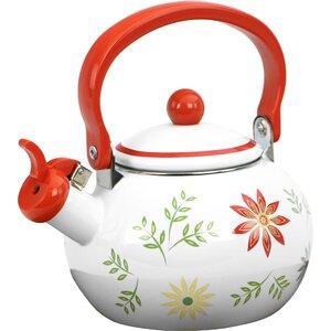 Happy Days Whistling 2-qt. Enamel on Steel Teapot
