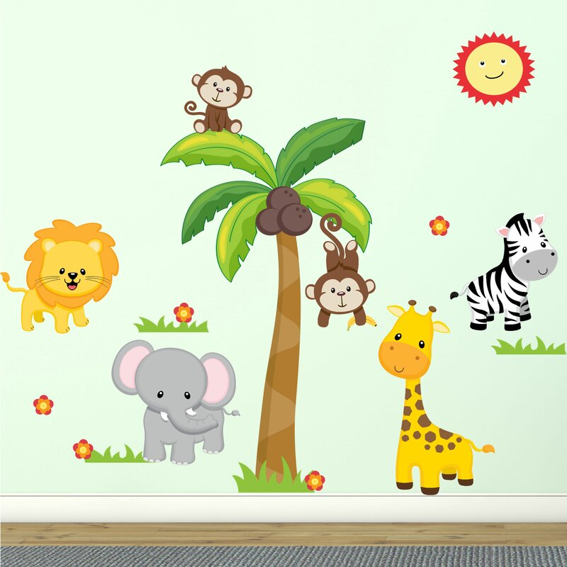 Awesome Jungle Theme Fabric Wall Decal