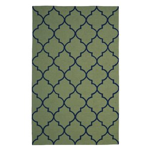 Wool Hand-Tufted Green Area Rug