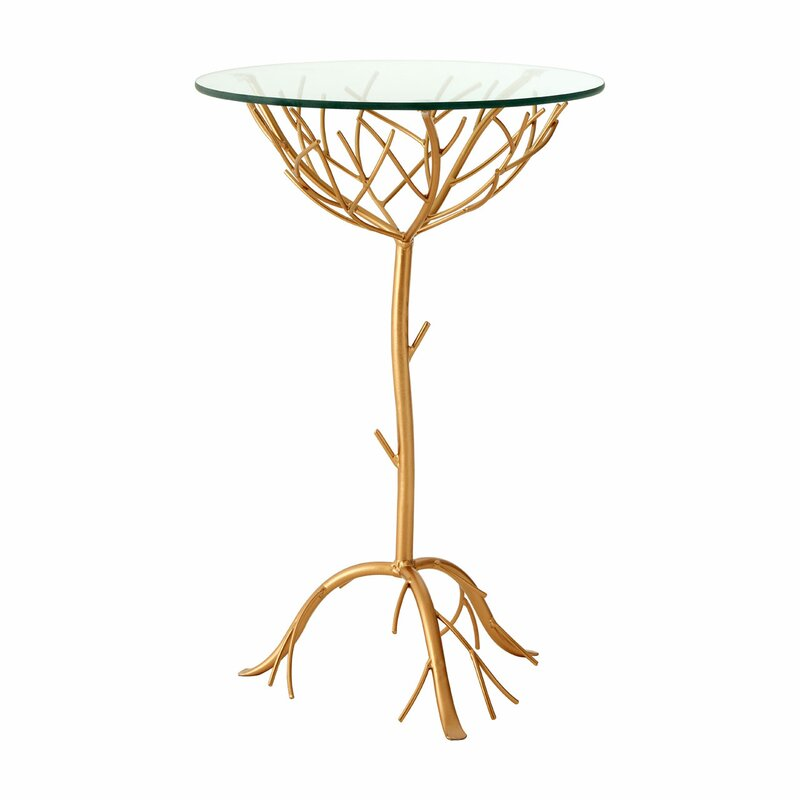 Elegant Lapis Branch Side Table
