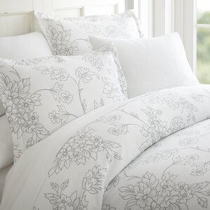 jacob 3 piece duvet cover set - Floral Duvet Covers