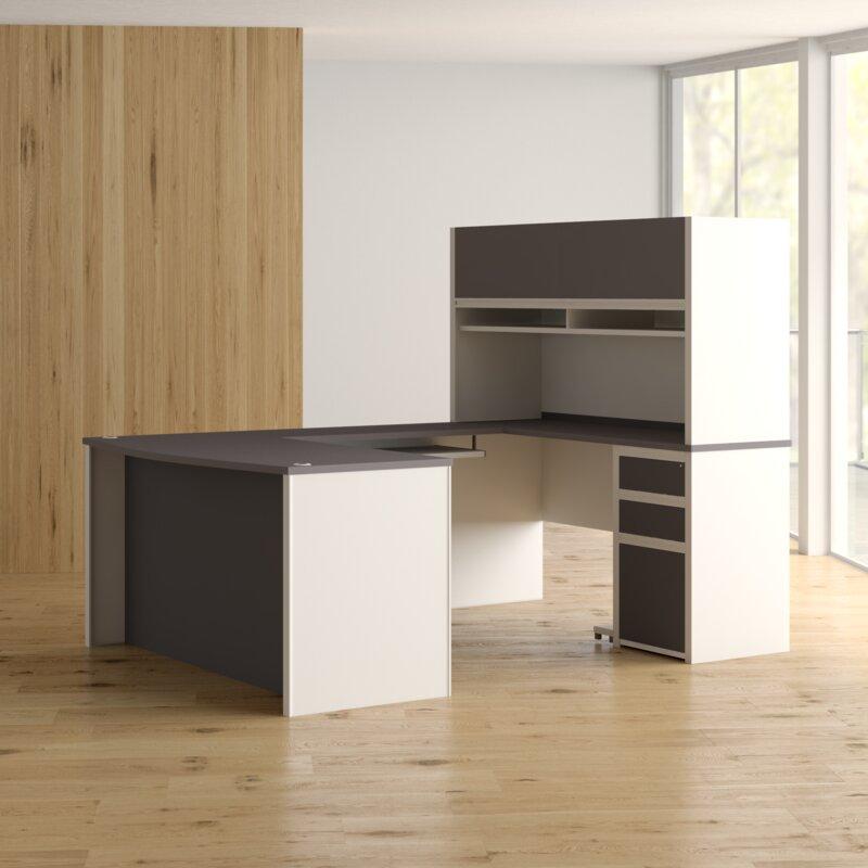 Karla 2 Piece U Shaped Desk Office Suite