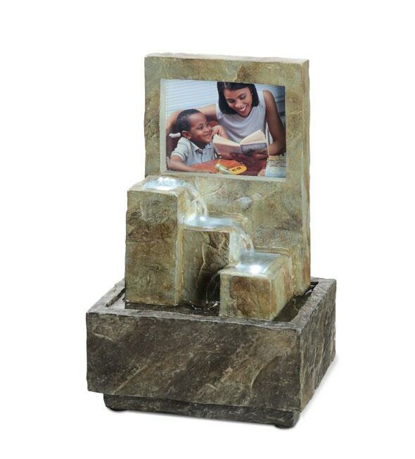 ABCHomeCollection Ceramic Picture Frame Water Fountain