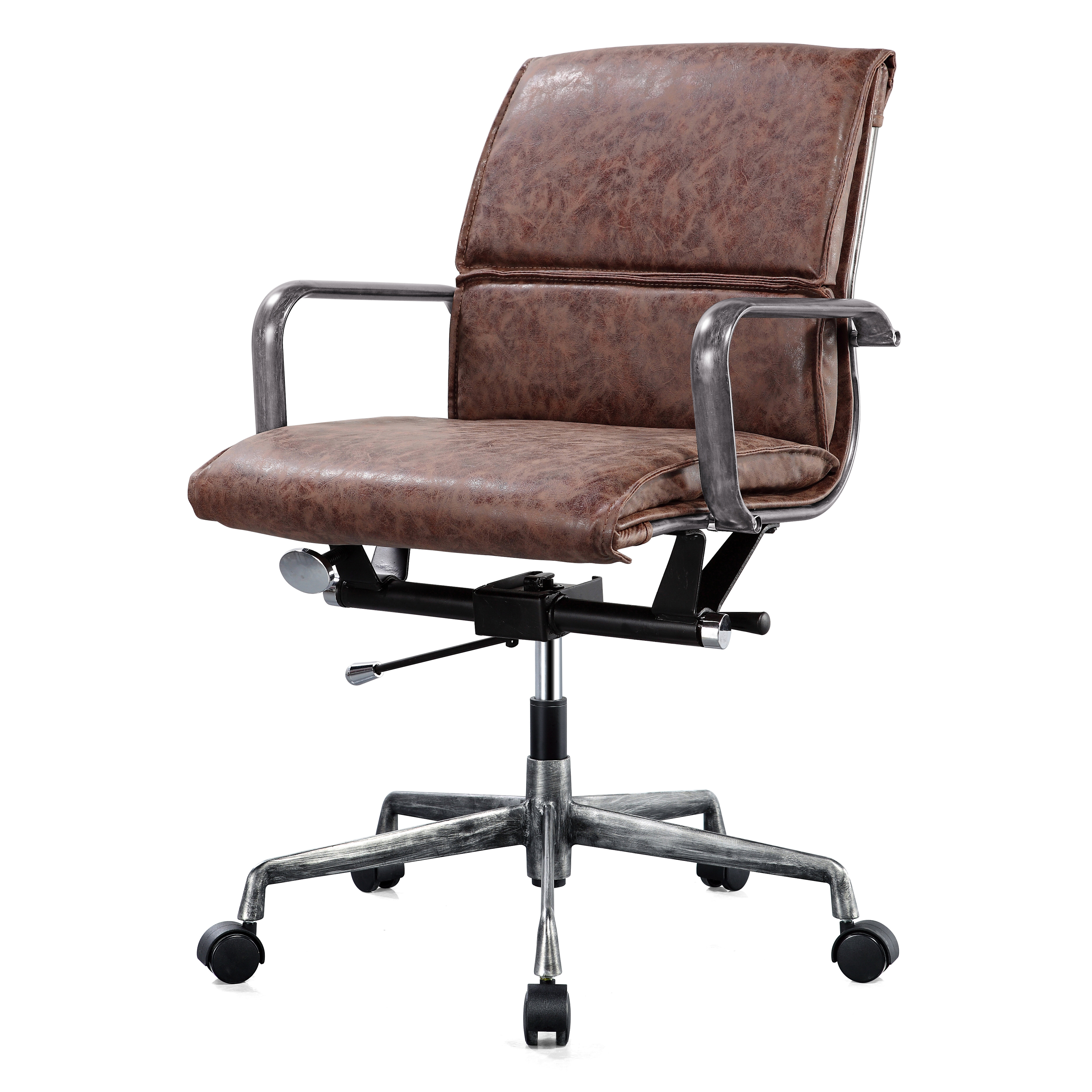 5829f46721b Tan Leather Office Chair