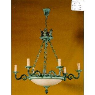 Wax candle chandelier wayfair 8 light candle chandelier aloadofball Choice Image
