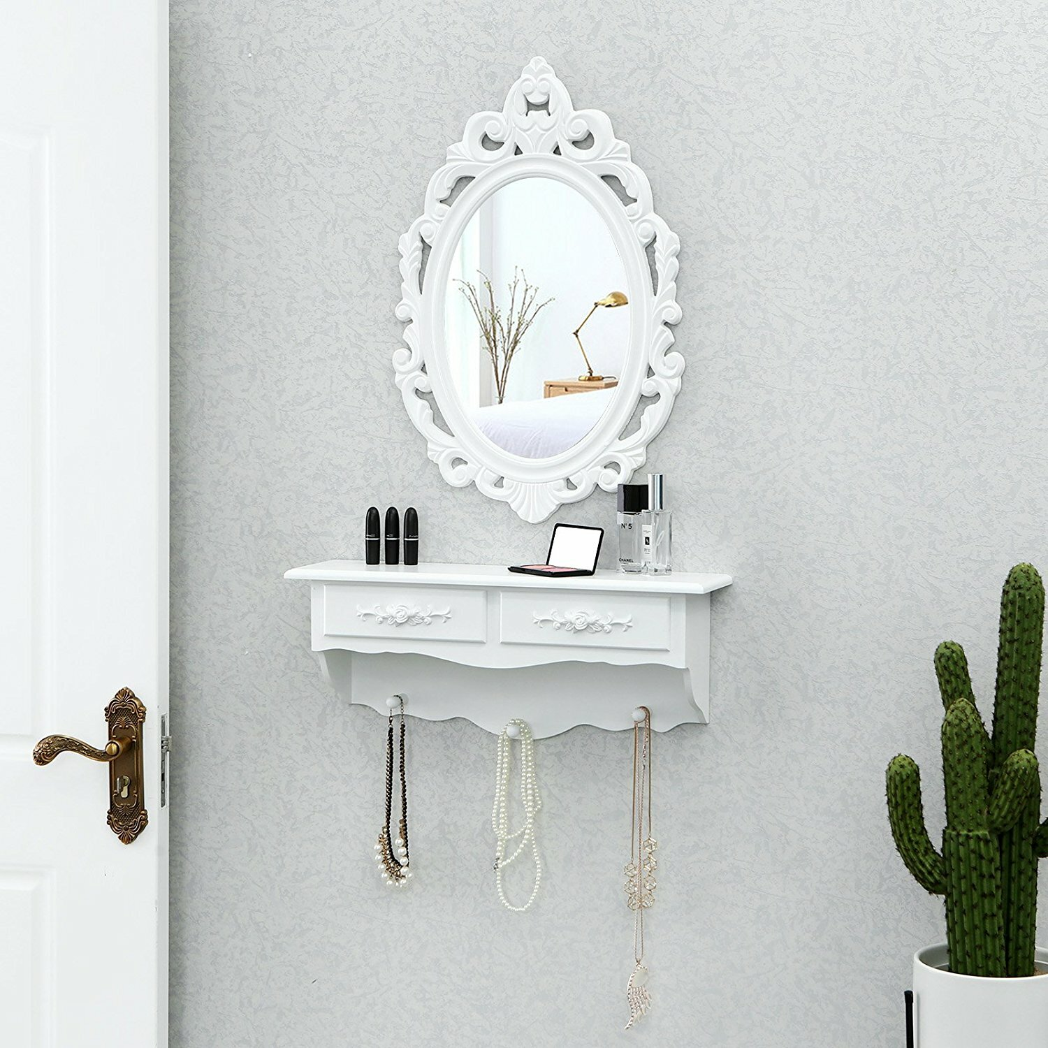 Wall Mounted Dressing Table With Mirror