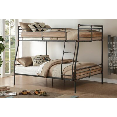 twin over queen bunk bed wayfair. Black Bedroom Furniture Sets. Home Design Ideas
