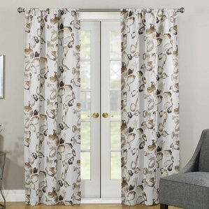 Superb Malcolm Thermaweave® Nature/Floral Room Darkening Rod Pocket Single Curtain  Panel