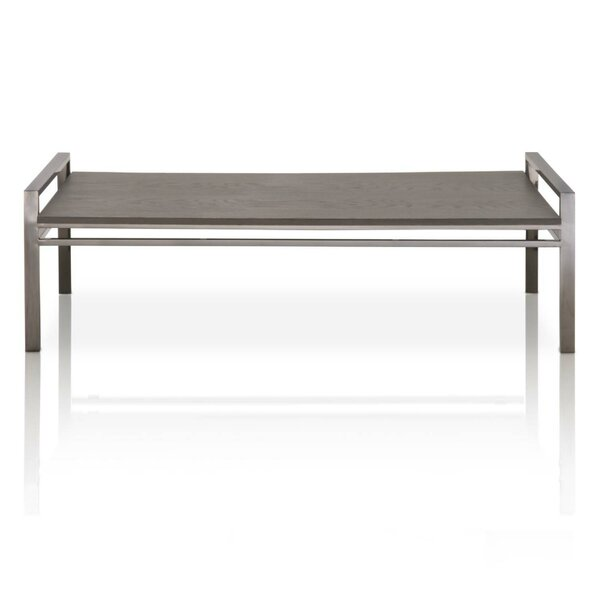 Foundry Select Willow Rustic Oak Wood Coffee Table | Wayfair