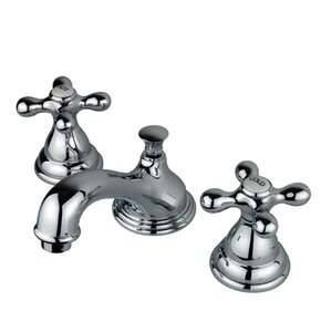 Royale Double Handle Widespread Bathroom Faucet with Brass Pop-Up Drain