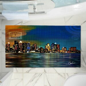 Corina Bakke's City Skyline Memory Foam Bath Rug