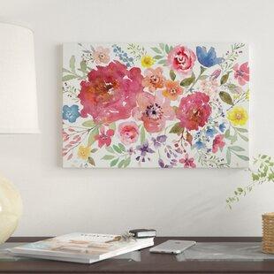 watercolor floral wall art wayfair