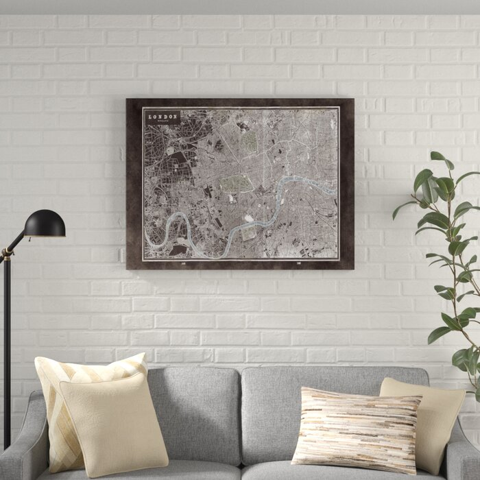 London City Map Printable.London City Map Graphic Art Print On Wrapped Canvas