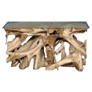 Extra Large Teak Block Console Table
