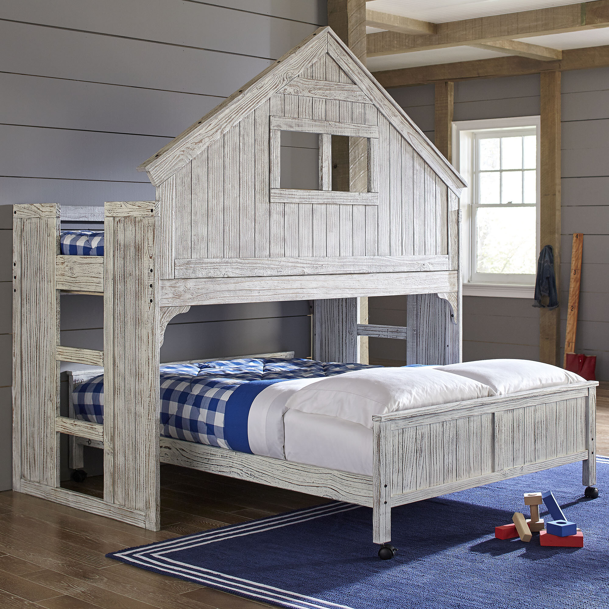 Birch Lane Lake House Twin Over Full Bunk Bed Reviews Wayfair