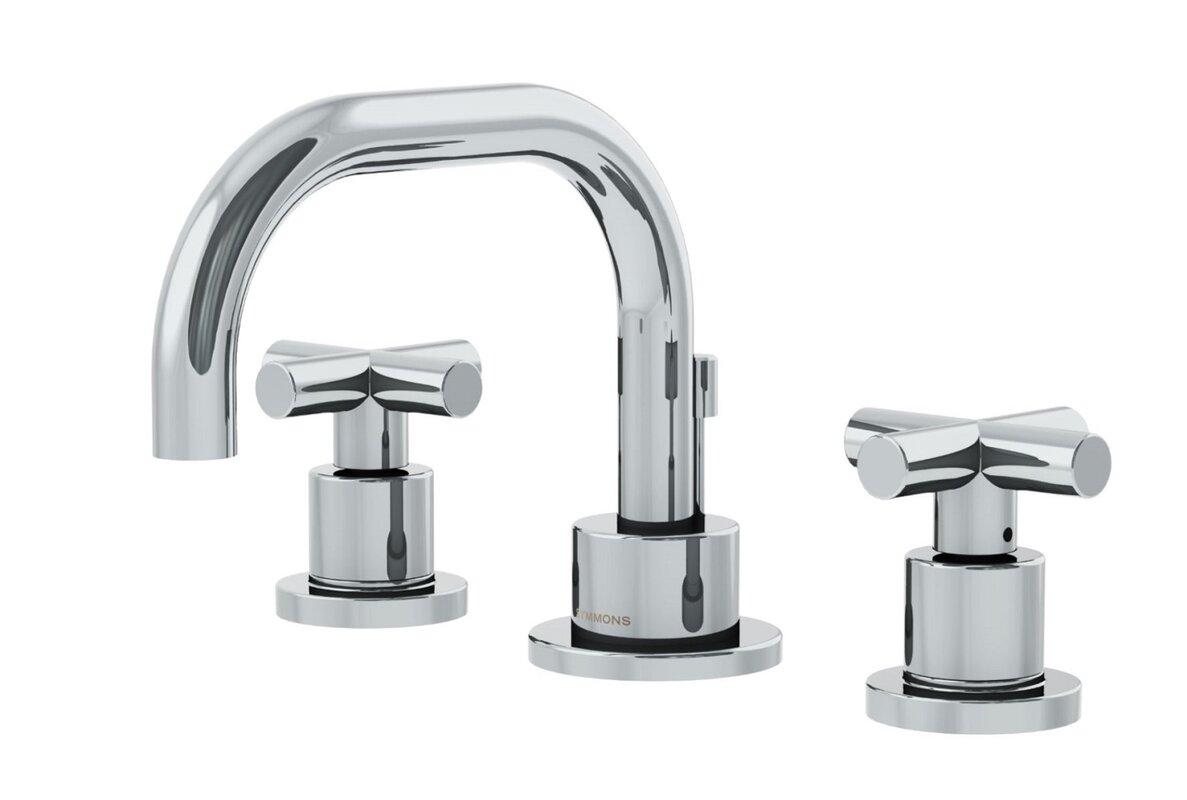 Dia Low Spout Widespread Standard Bathroom Faucet Double Cross ...