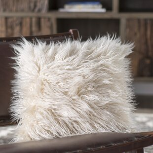 Blush Faux Fur Pillow Wayfair