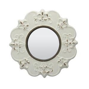 Traditional Worn Ceramic Distressed Wall Mirror