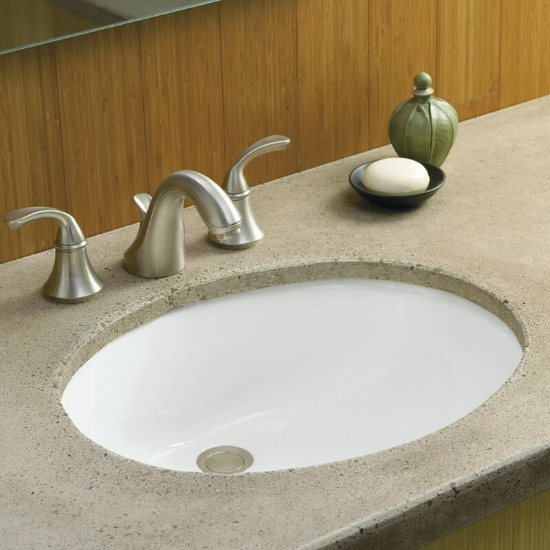 Undermount Bathroom Sink kohler caxton oval undermount bathroom sink with overflow