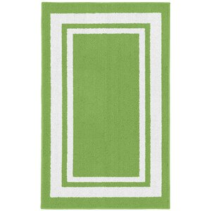 Ginger Green/White Indoor/Outdoor Area Rug