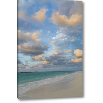 Breakwater Bay Seascape Painting Print on Wrapped Canvas