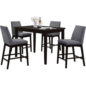 Lovely Trotwood 5 Piece Bar Height Dining Set