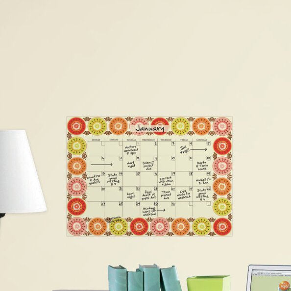 Wallpops Carnivale Monthly Calendar Dry Erase Board Wayfair Co Uk