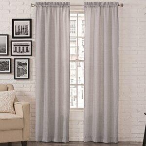 Charlayne Modern Solid Room Darkening Rod Pocket Curtain Panels (Set of 2)