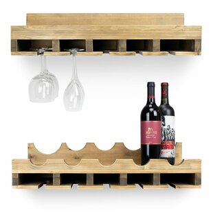 Kroll Double 5 Bottle Wall Mounted Wine Bottle Rack