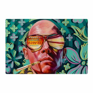 Jared Yamahata Bad Trip Pop Art Floral Pink/Green Area Rug