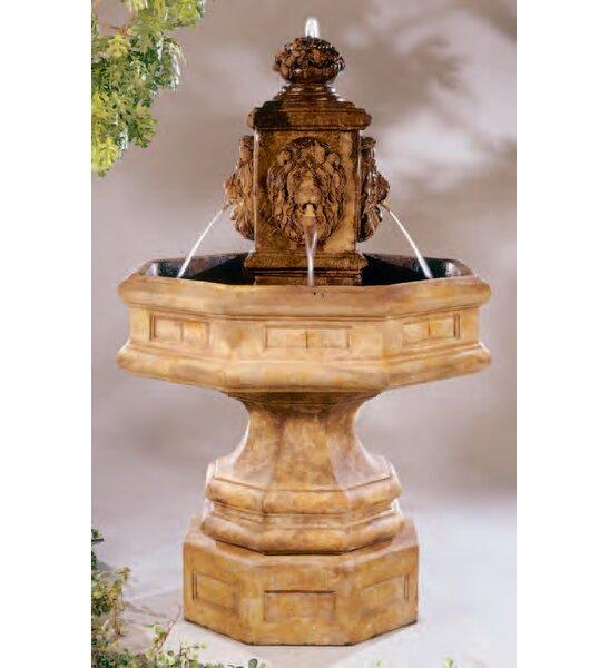 henri studio lion concrete classic waterfall fountain u0026 reviews wayfair - Waterfall Fountain