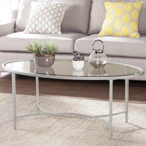 Buloke Metal/Glass Oval Coffee Table by Zipc..