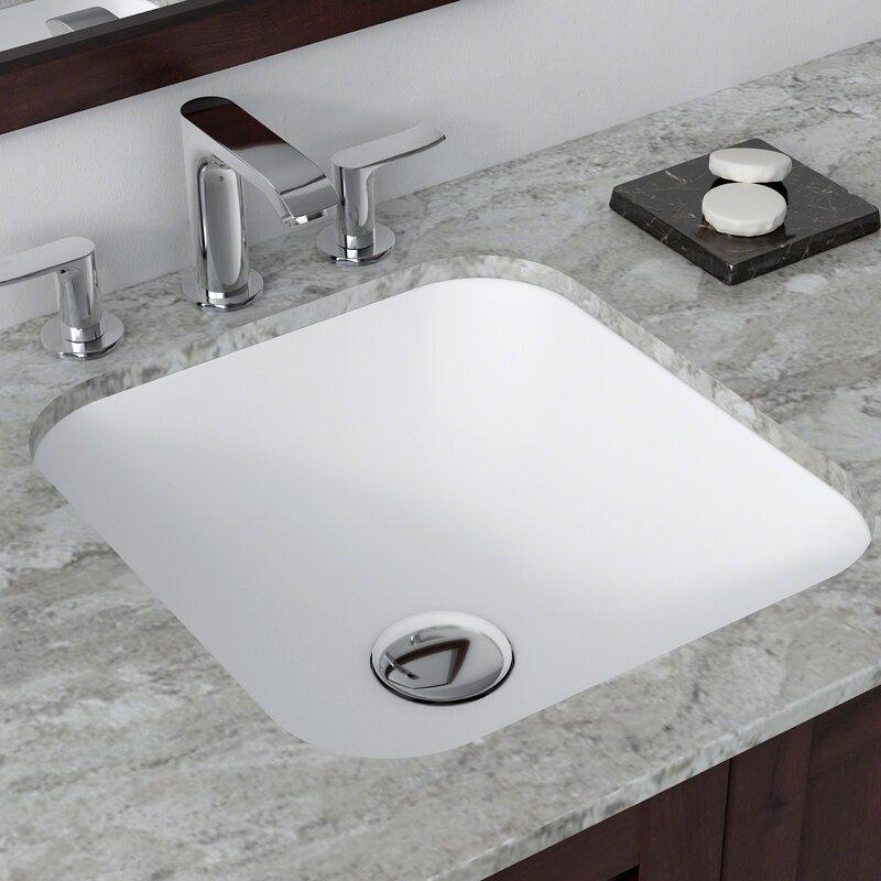 Natura Square Undermount Bathroom Sink