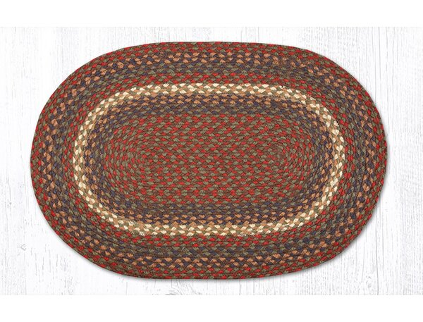 Earthrugs Burgundygray Braided Area Rug Reviews Wayfair