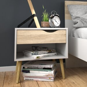 Oslo Bedside Table with Drawer