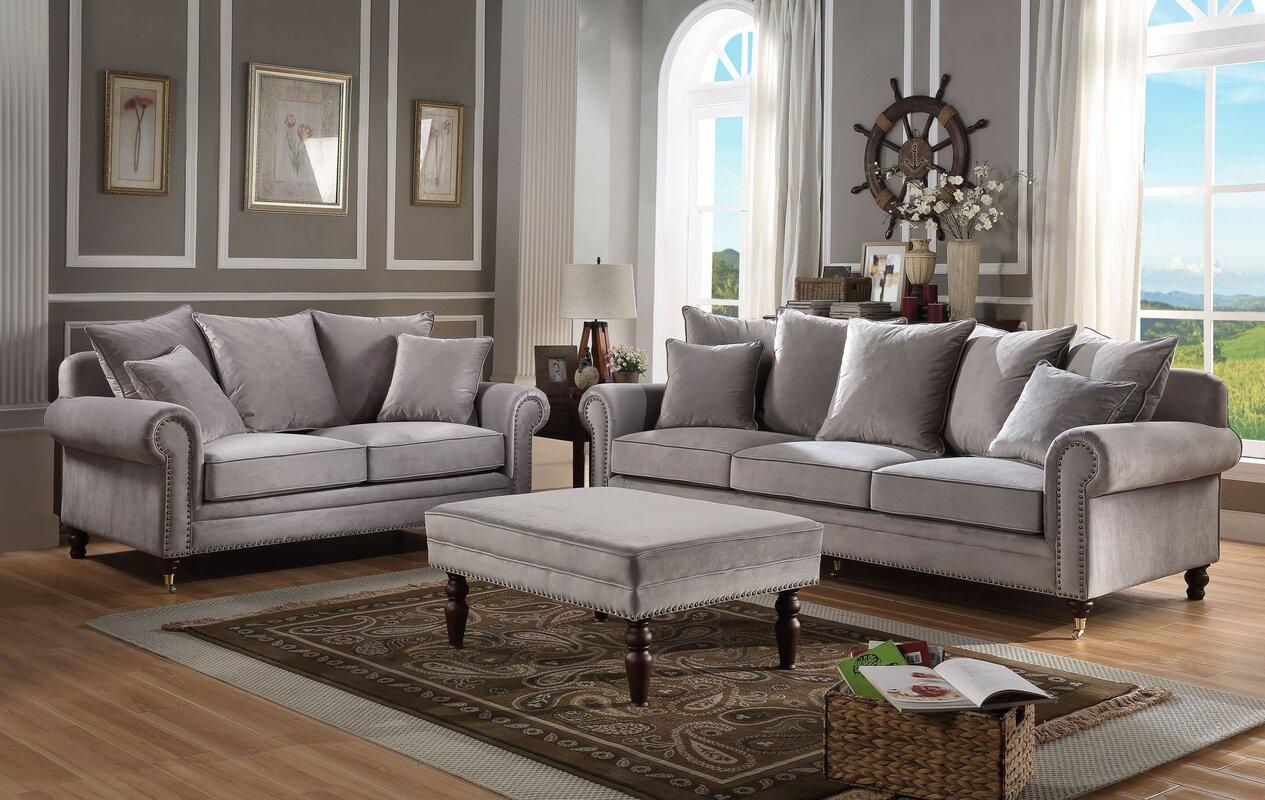 Elegant Hampton 3 Piece Sofa Set